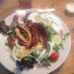 Blackened chicken dinner salad. Delish!