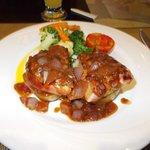 Pork Tenderloin with red wine sauce