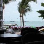 View of the Beach Road and the beach from the restaurant