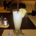 Some nice pineapple frappe