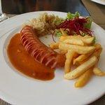 German sausage and sauerkraut