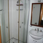 The bath/shower - tight space, plenty of hot water.