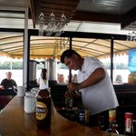 Our barman 'Pato' - great service