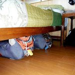 Plenty of storage under the bed - worked for us.