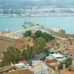 Looking down upon the Port of Ibiza from above