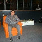 Sala de espera do hotel
