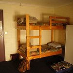 Our 3-bed room (1 double decker bed & 1 single bed)