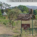 checkpost at Samburu round about ...