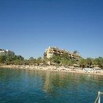 Et kik på hotellet og stranden