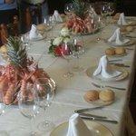 Detalle de preparaciln de mesa
