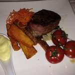 Eye Fillet with out of place vegetables :-/