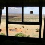 Panorama dalla finestra della camera.