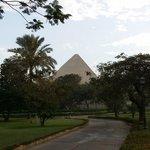 pyramid view from balcony