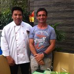 myself and staff member chef