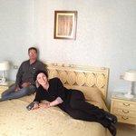 Enjoying our room at hotel villa san lorenzo maria