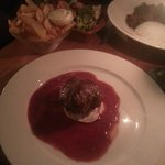 Beef fillet with strawberry sauce