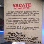notice on front door