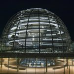 Bundestag dome at night