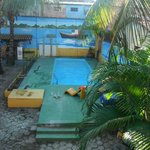 A piscina da pousada