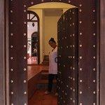 Accueil porte d'entrée Riad