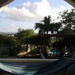 Uitzicht vanaf de porch