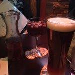 Sangria and Shock Top Beer..