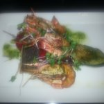 Grilled cob & prawns w/ veggies as a main
