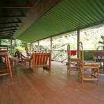 Teak house terrace