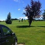 Golfplatz gleich hinterm Hotel