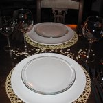 Our placesetting during a fantastic dinner!