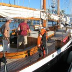 Crew preparing to sail