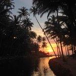 Dwarka bei Sonnenuntergang