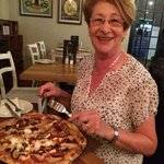 Pizza going down treat with Mum in law