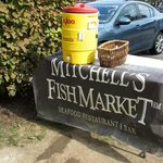 Trailside water offered complementary by Mitchell's.