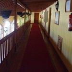 New hotel floor hallway