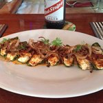 Stuffed Jalapeños and a Red Stripe!