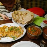 Chicken Biryani and Jaipuri Chicken