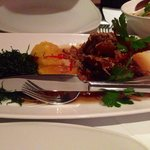 Duck in Tamarind: this is a crispy duck leg with tamarind sauce.  It comes with crispy seaweed a