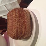 Sticky rice.  It comes in this wicker basket which must stain the rice a bit.