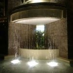 Fountain by the elevator.