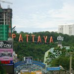 The Pattaya sign from the room