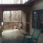 Back porch at Hepatica Cottage