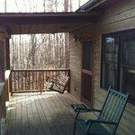 Back porch at Hepatica Cottage