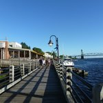 Boardwalk to the restaurants