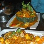 Pahdai and pumpkin curry