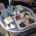 Cheese platter and wraps