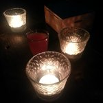 Candles on the tables