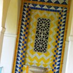 vintage tiles at the water-cooler