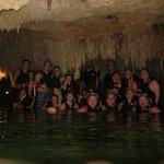 denote with stalactites and stalagmites