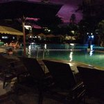 Night view of main pool area